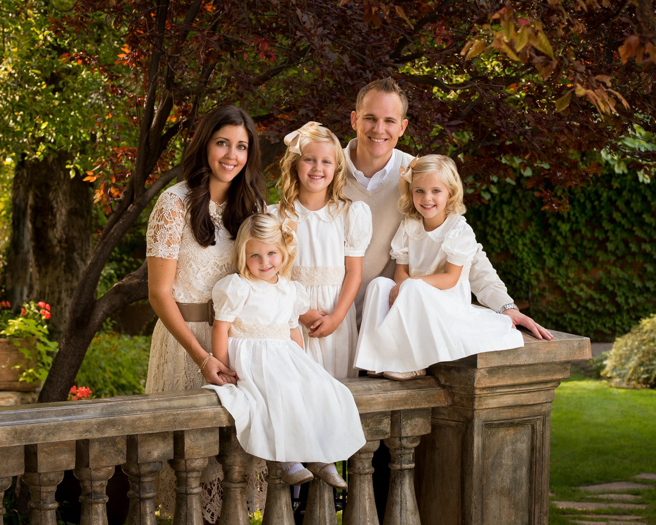family picture portrait garden outdoor utah casual salt Lake city