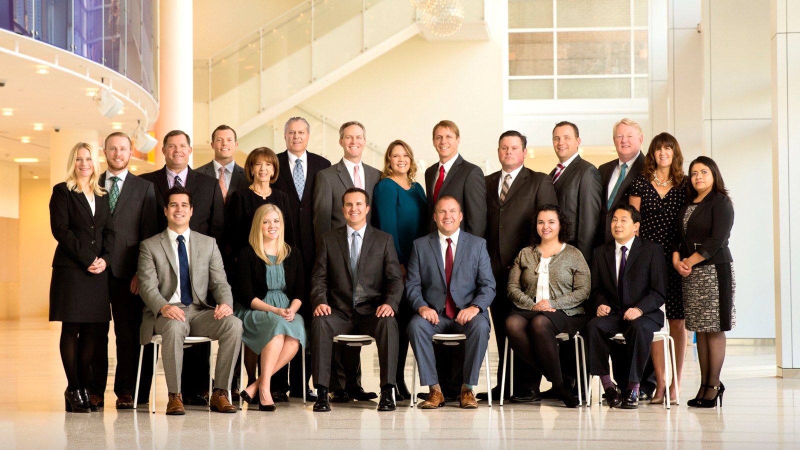 business group portrait Busath Photography