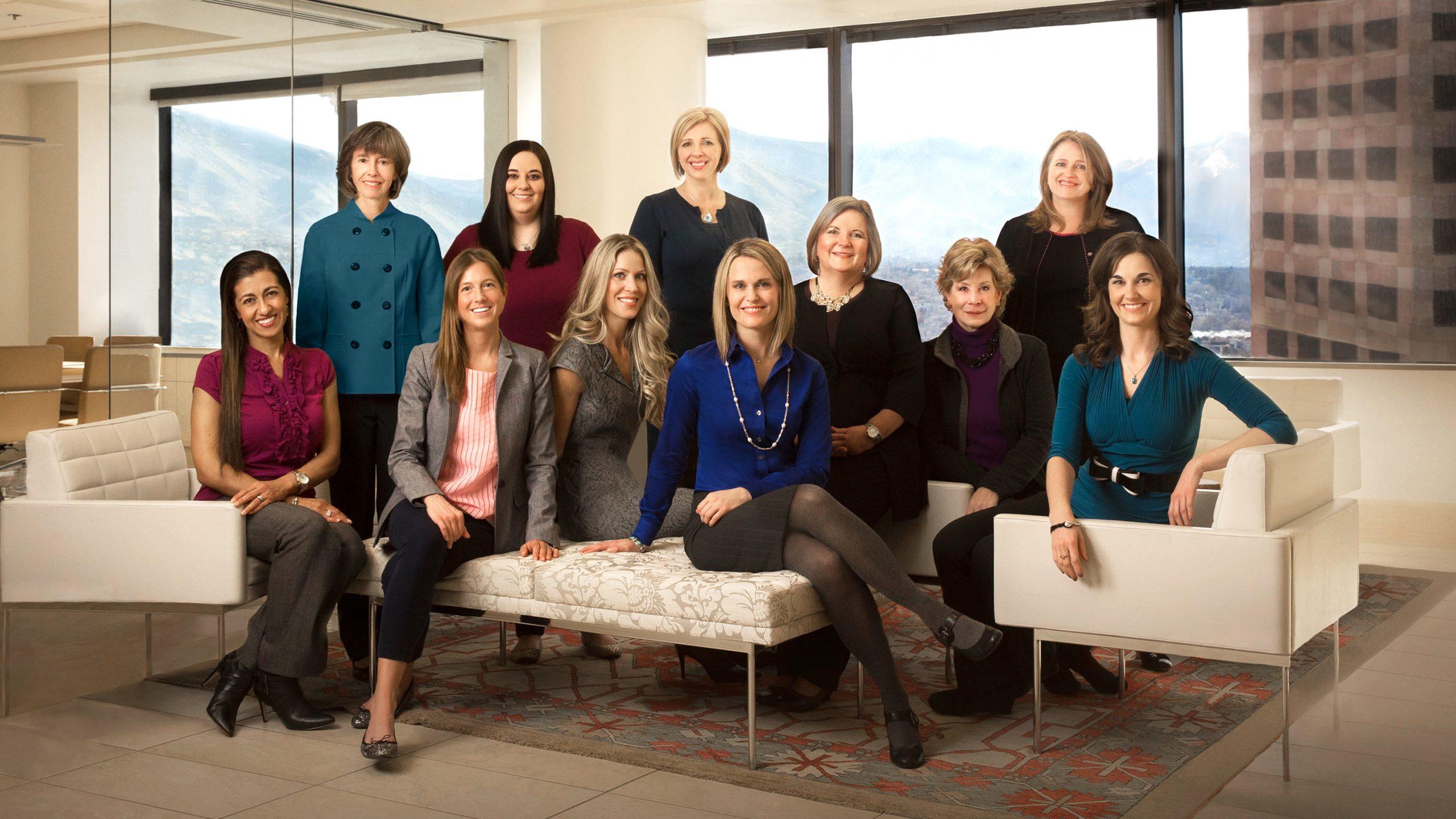 business women group portrait Busath Photography