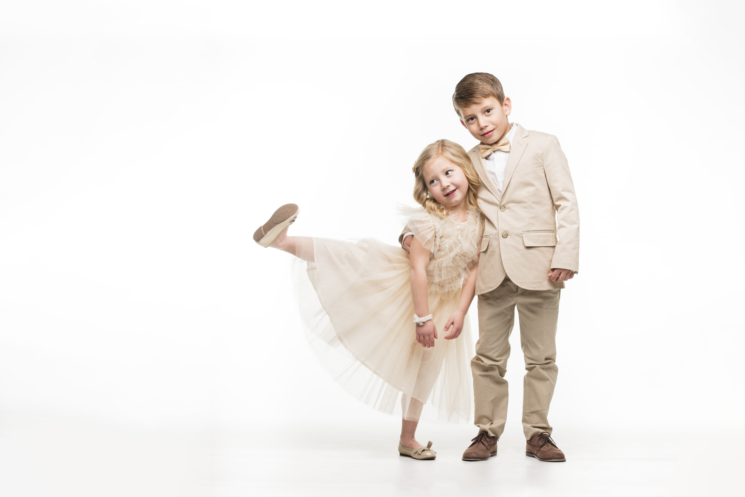 portrait children on white